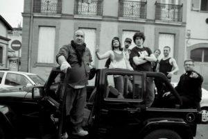 Gabriel Burgoa Flores au centre avec son bonnet de mafioso