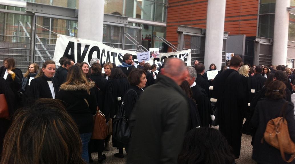 Toulouse. Les avocats ont bloqué le palais de justice Photo : Toulouse infos