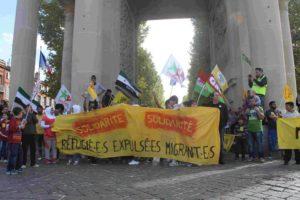 Manifestation en soutien aux réfugiés Syriens des Yzards Dal 31/DR