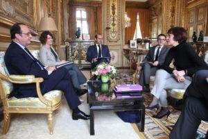 Carole Delga et François Hollande/dr