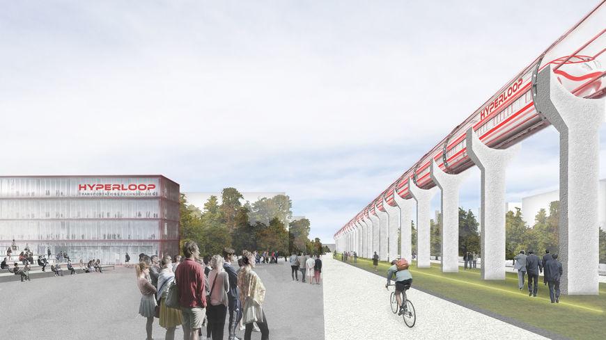 Les tests de L'Hyperloop avec des passagers dès 2020