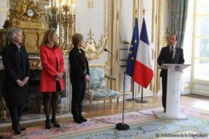 Nicole Belloubet lors de son intronisation au conseil constitutionnel