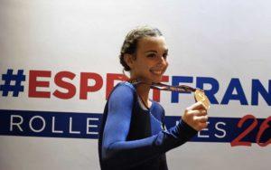 Serena Giraud médaille d'argent aux Roller Games