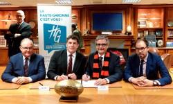 Le Département signe un partenariat avec le Stade Toulousain