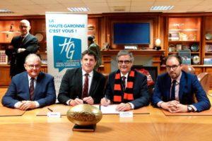 Le Département signe un partenariat avec le Stade Toulousain caurelien ferreira
