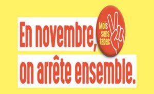 """Campagne nationale du """"Mois sans tabac"""" en novembre"""
