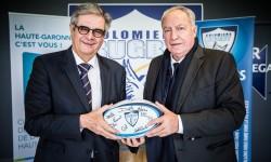 Le Département signe un partenariat avec le Colomiers Rugby