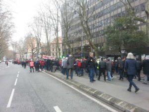 Mobilisation suivie pour la défense du service public à Toulouse Photo : Toulouse Infos