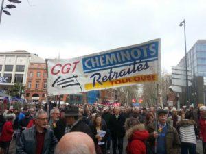 Manifestations dans la région pour les cheminots, les retraités et les EHPAD  Photo : Toulouse Infos