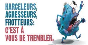 Une affiche de la campagne contre le harcèlement sexiste dans les transports cTisseo