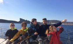 Course Croisière EDHEC : Les étudiants de l'ENAC passent du ciel à la mer