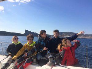 Course Croisière EDHEC : Les étudiants de l'ENAC passent du ciel à la mer dr