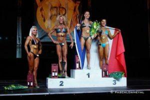 Morgane Laplace sur la plus haute marche du podium aux mondiaux CPascal d'Ameyal