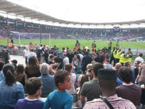 Les spectateurs toulousains ont répondu présent mais le TFC s'incline face à Lille Photo : Cjc