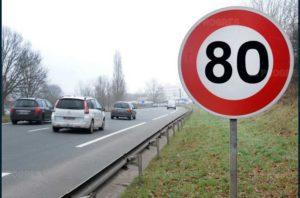 La limitation à 80 km/h au lieu de 90 km/h est entrée en vigueur ce dimanche cdr