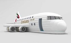 Emirates lance un Airbus A380 gonflable pour célébrer les dix ans du premier prototype