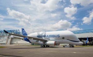 Le premier vol du Beluga XL d'Airbus a eu lieu aujourd'hui Cairbus master films Jean-Baptiste Accariez dr
