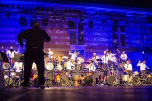 3000 spectateurs ont assisté au concert exceptionnel d'Ali Baba et les 40 batteurs au Château de Laréole Photo : CD 31/Alis Mirebeau