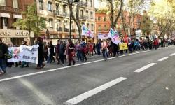 Journée de mobilisation des syndicats d'enseignants à Toulouse