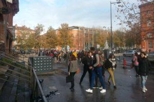 Manifestation des lycéens sous tension, le service Tisséo interrompu Photo : Toulouse Infos