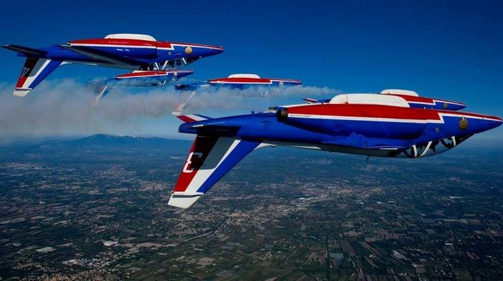 Perpignan. Sortie de piste pour un Alphajet de la Patrouille de France