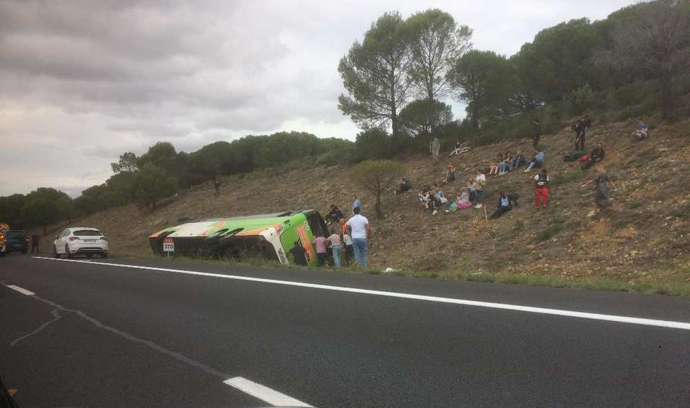 Aude. Un accident de bus fait un mort sur l'autoroute A61 Photo : Toulouse Infos