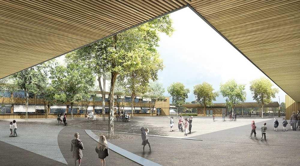 Inauguration du chantier de la nouvelle école du quartier Grand Selve cdr