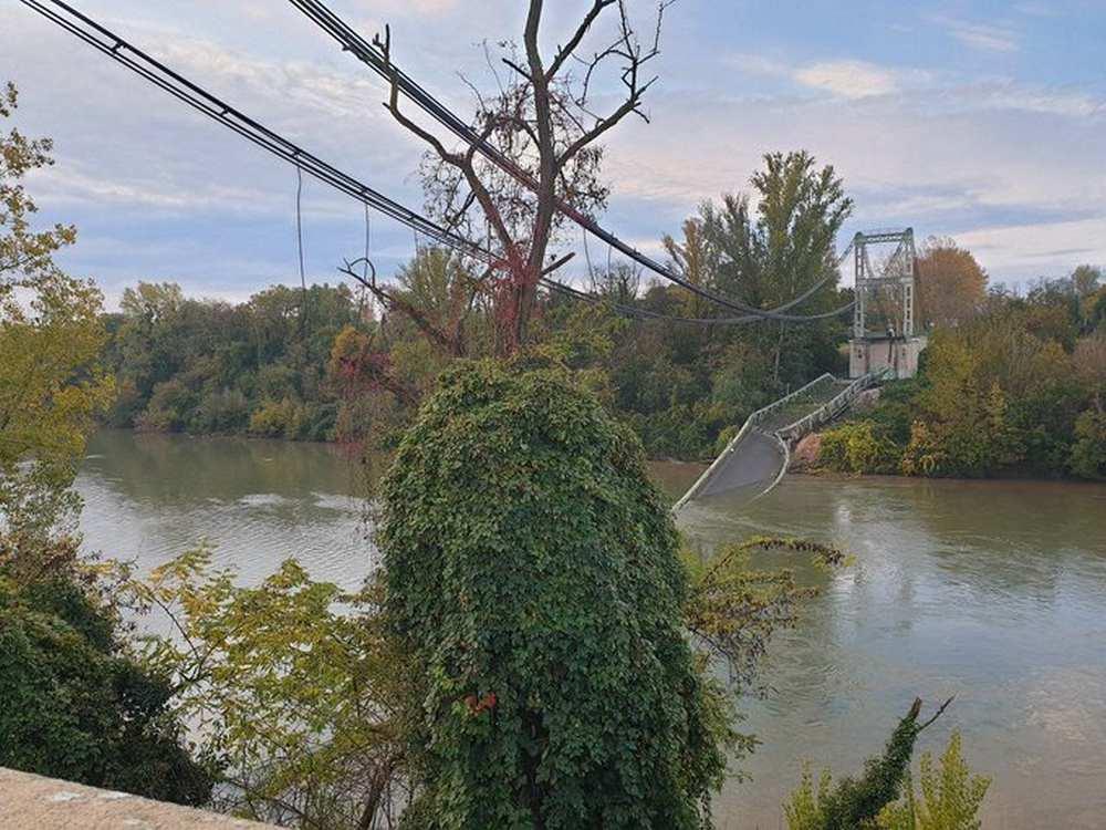 Un pont s'effondre à Mirepoix sur Tarn, une fille de 15 ans est décédée Photo @olecorre/dr
